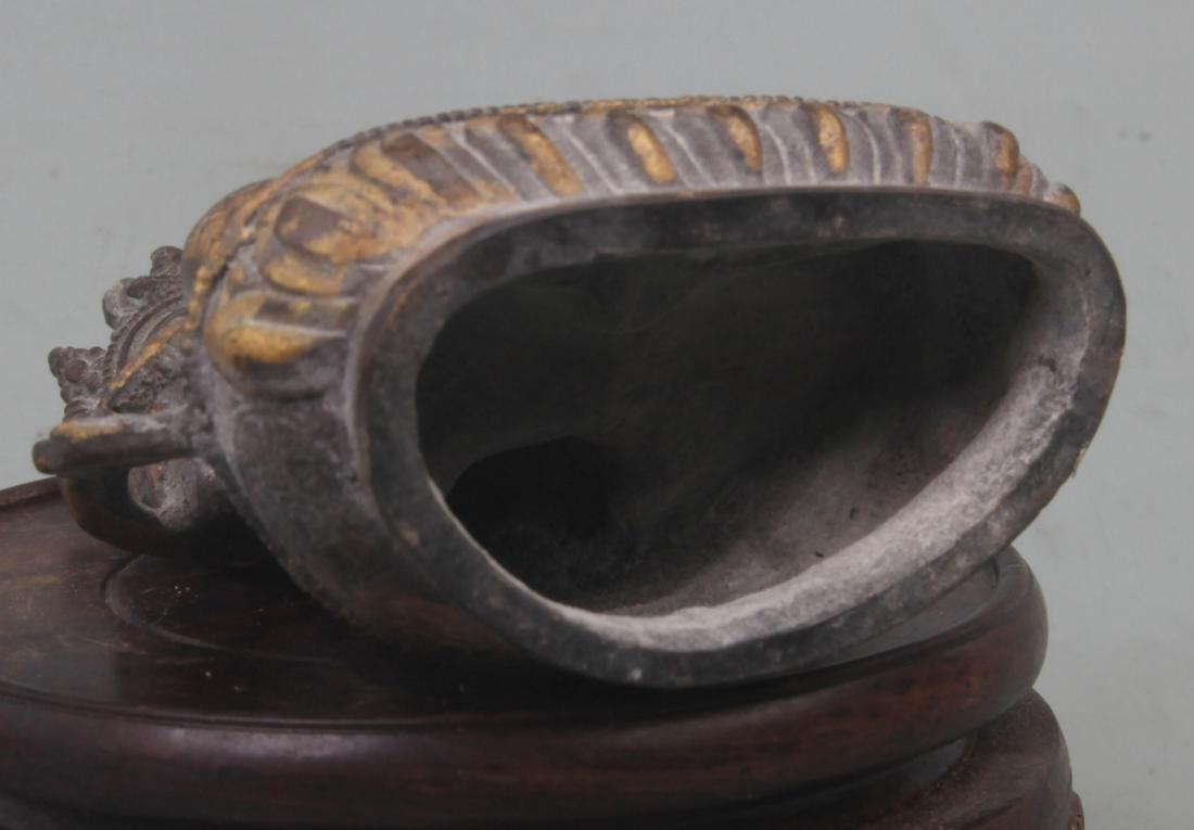 A REAR GILT BRONZE TIBETAN VAJRASATTVA STATUE - 4