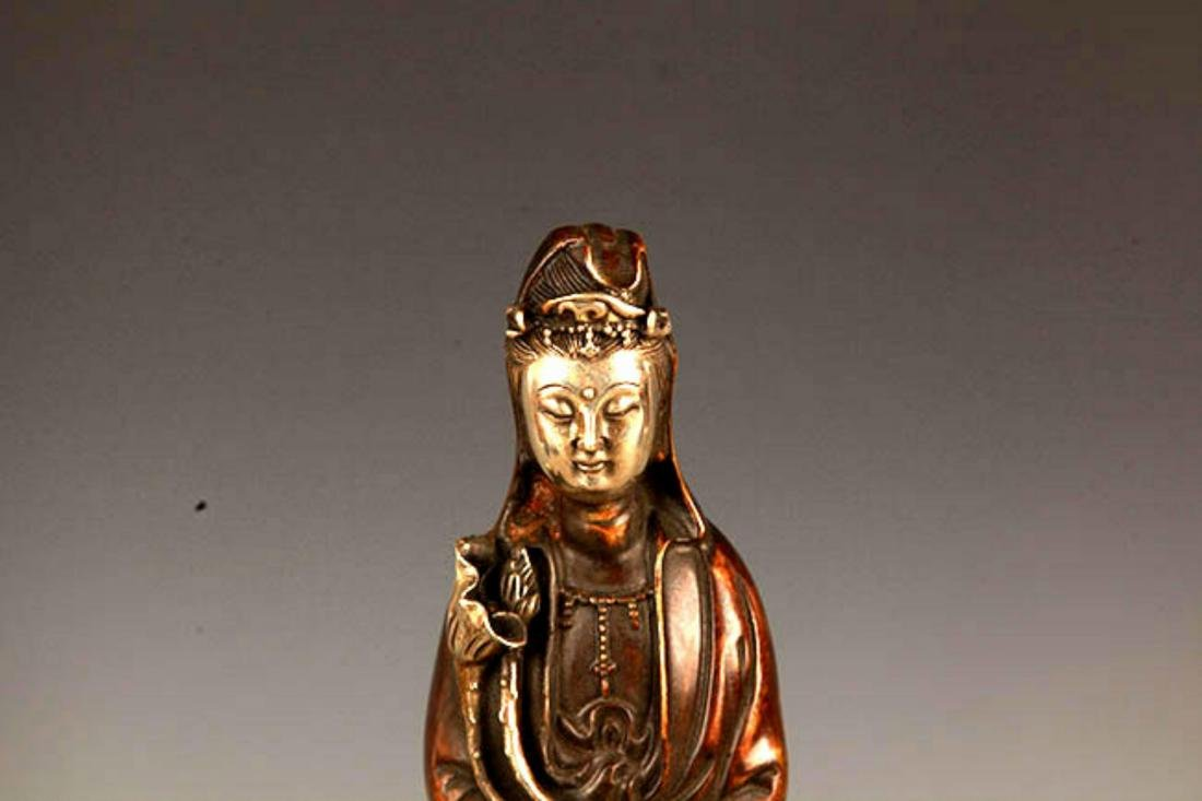 """A FINELY MADE """"GUAN YIN WITH BOTTLE"""" FIGURE - 2"""