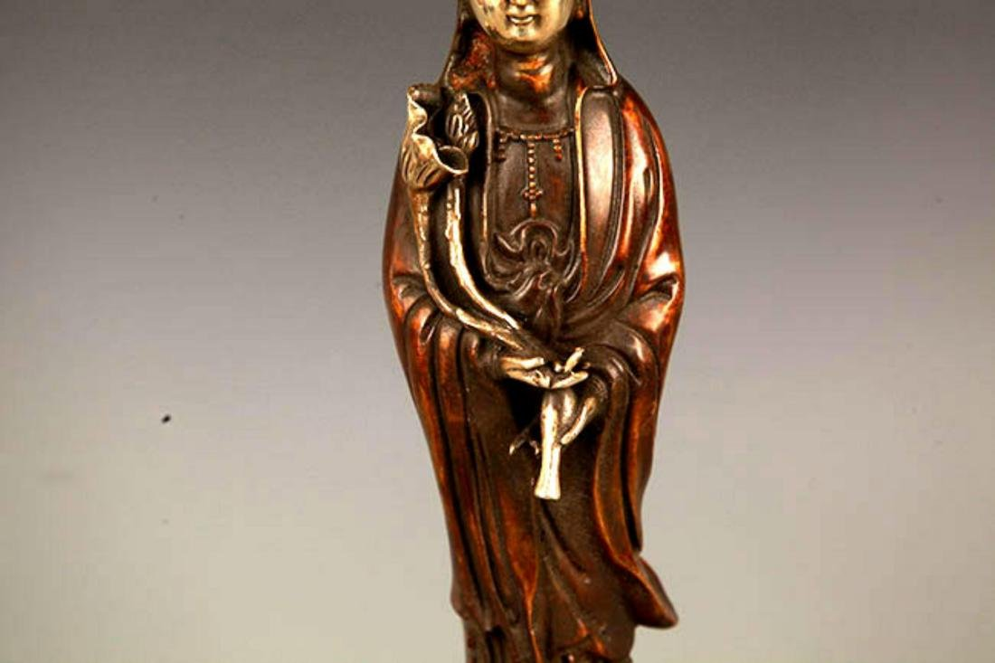 """A FINELY MADE """"GUAN YIN WITH BOTTLE"""" FIGURE - 3"""