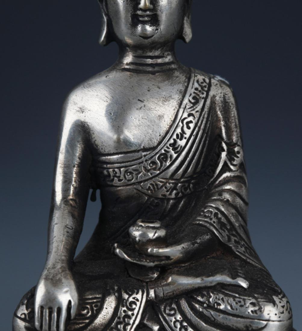 FINELY CARVED BRONZE BUDDHA - 3