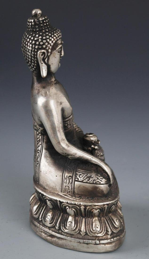 FINELY CARVED BRONZE BUDDHA - 5