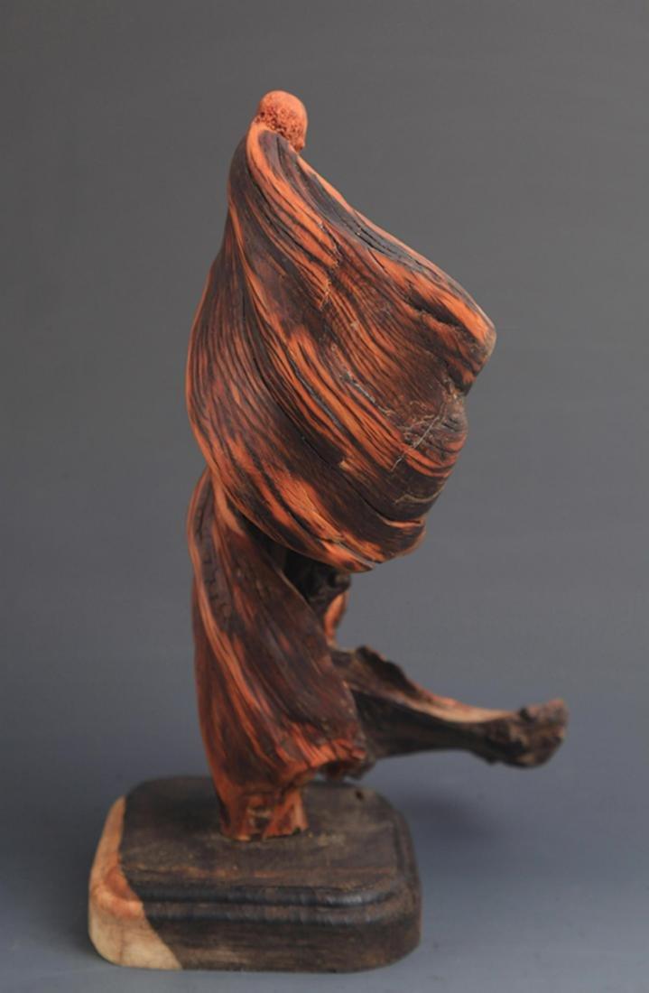 A FINE CYPRESS TREE BODHIDHARMA FIGURE DECORATION - 6