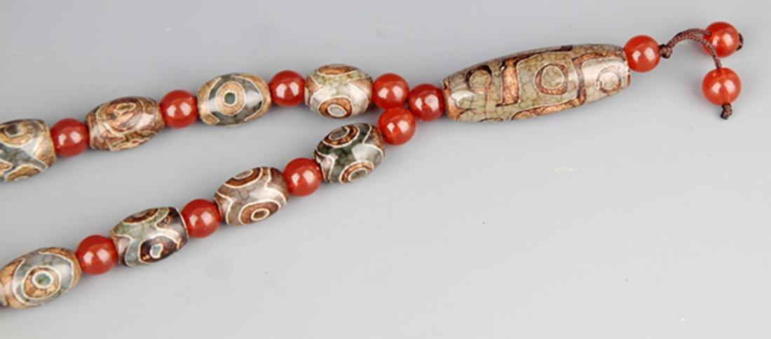 GROUP OF TWO TIAN ZHU AND CRYSTAL NECKLACE - 8
