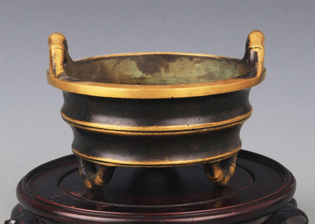 A TREE FOOT BAMBOO STYLE CENSER