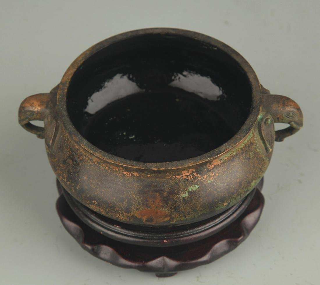 BRONZE ELEPHANT EAR GUI STYLE CENSER