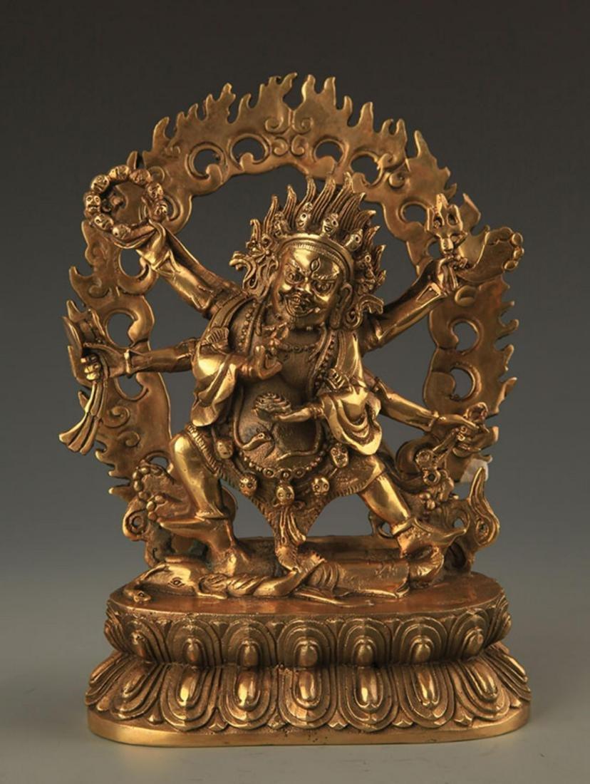 TIBETAN BUDDHISM BRONZE YAMANTAKA WRATH YAMASHINA