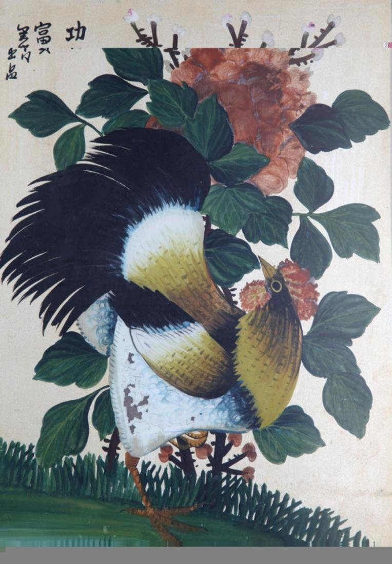 A OLD CHINESE PAINTING WITH FRAME - 2