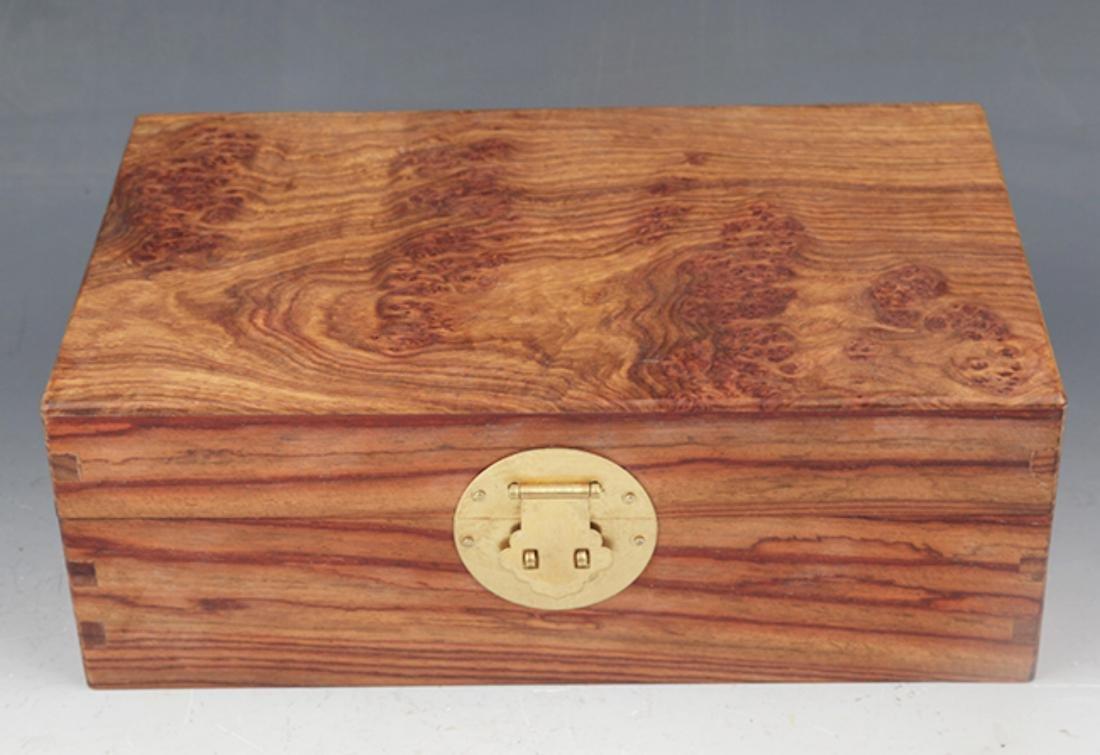 A FINE HUANG HUA LI MU JEWELRY BOX