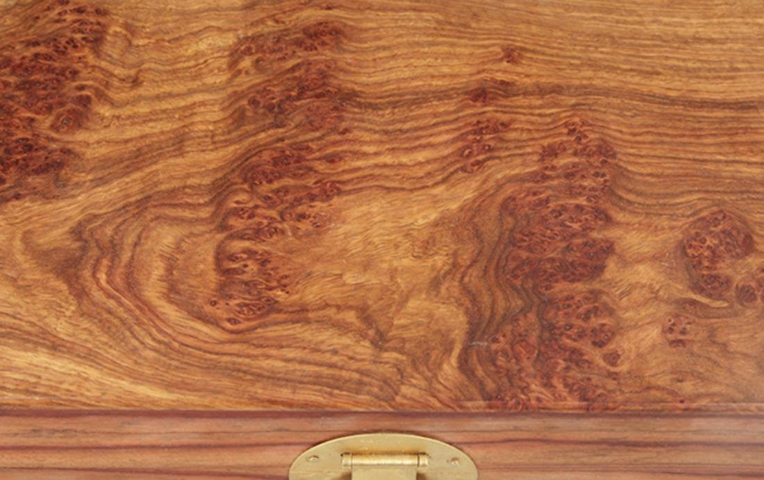 A FINE HUANG HUA LI MU JEWELRY BOX - 2