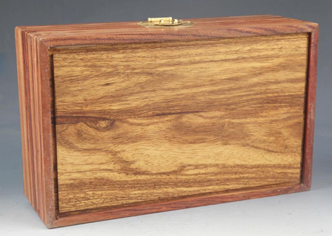 A FINE HUANG HUA LI MU JEWELRY BOX - 5
