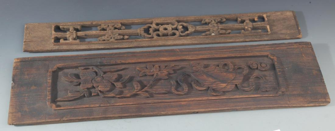 GROUP OF OLD FINELY CARVED WOODEN BOARD - 4