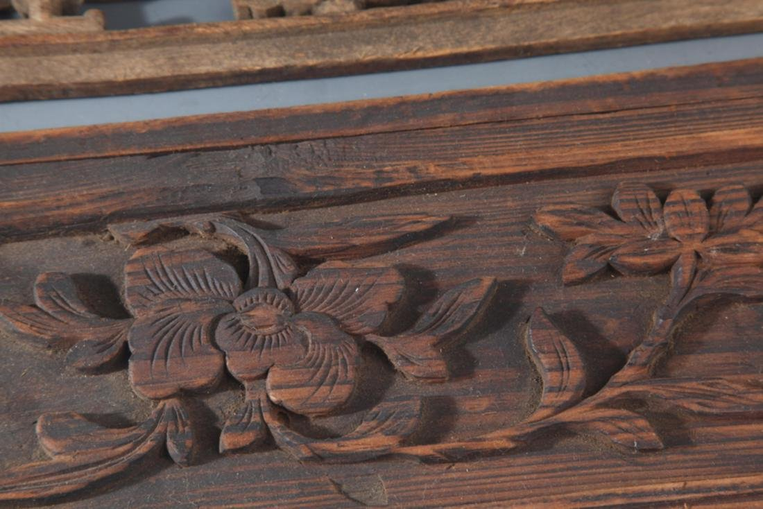 GROUP OF OLD FINELY CARVED WOODEN BOARD - 5