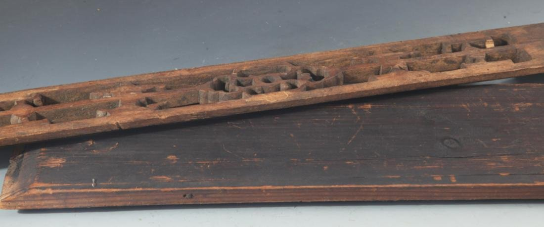 GROUP OF OLD FINELY CARVED WOODEN BOARD - 7