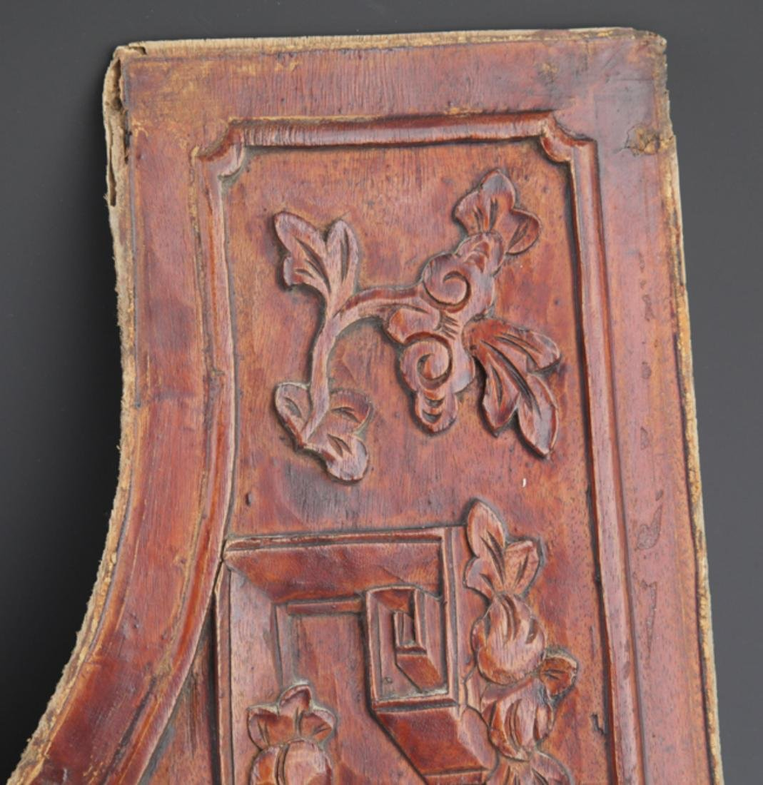 GROUP OF OLD FINELY CARVED WOODEN BOARD - 9