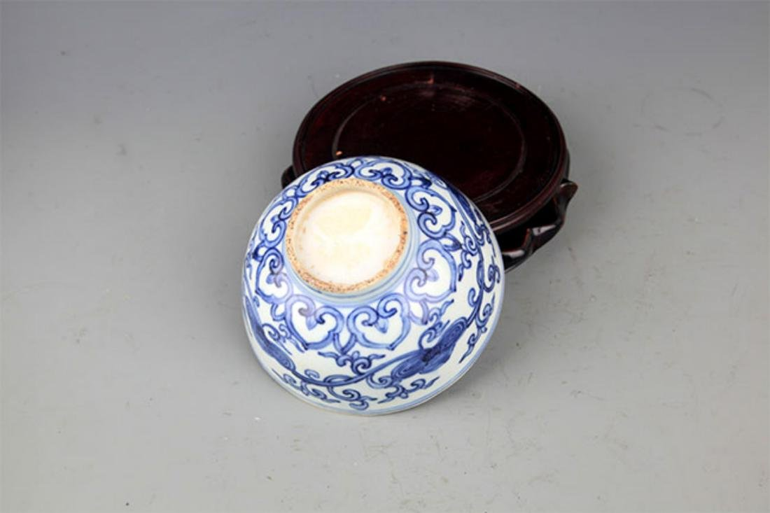 A FINE BLUE AND WHITE LANDSCAPING PATTERN PORCELAIN - 3