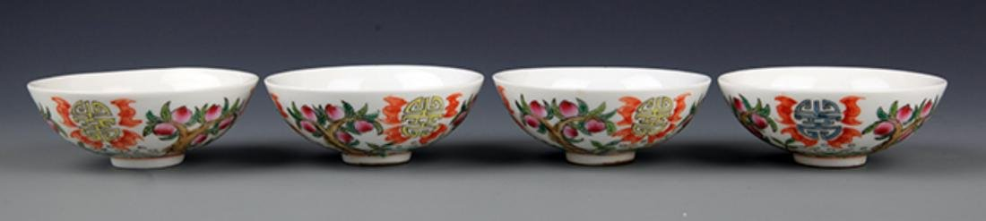A GROUP OF FOUR FAMILLE-ROSE PORCELAIN BOWL - 2