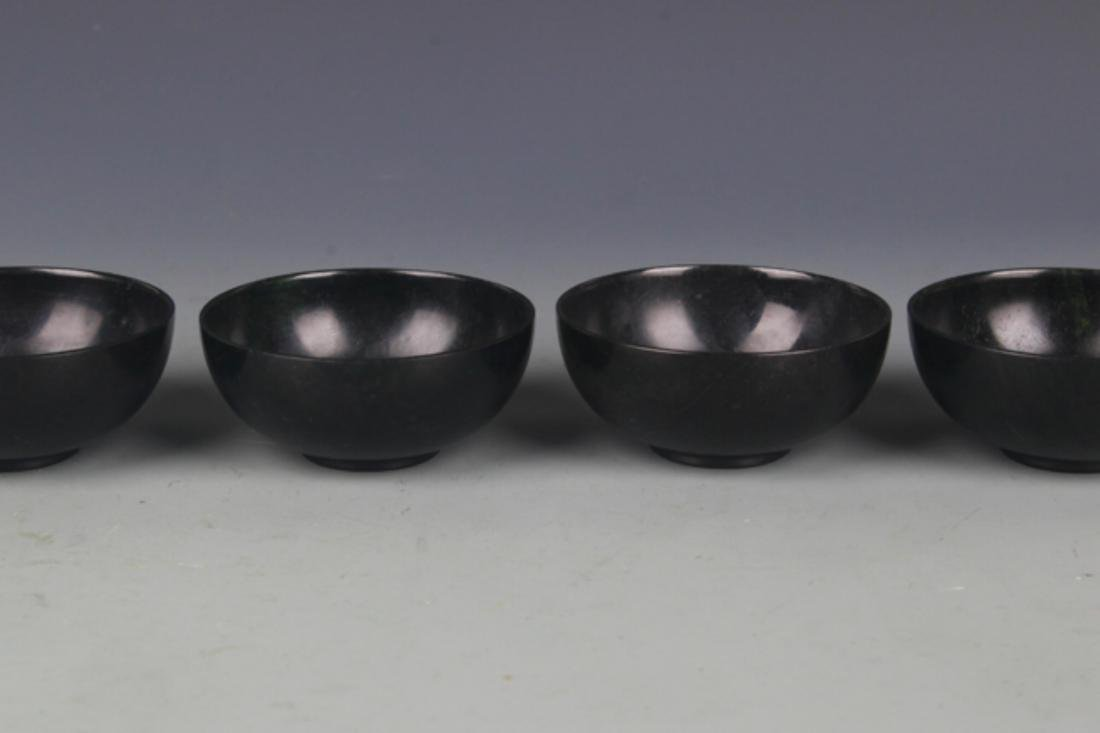 SET OF FOUR FINE JADE CUP