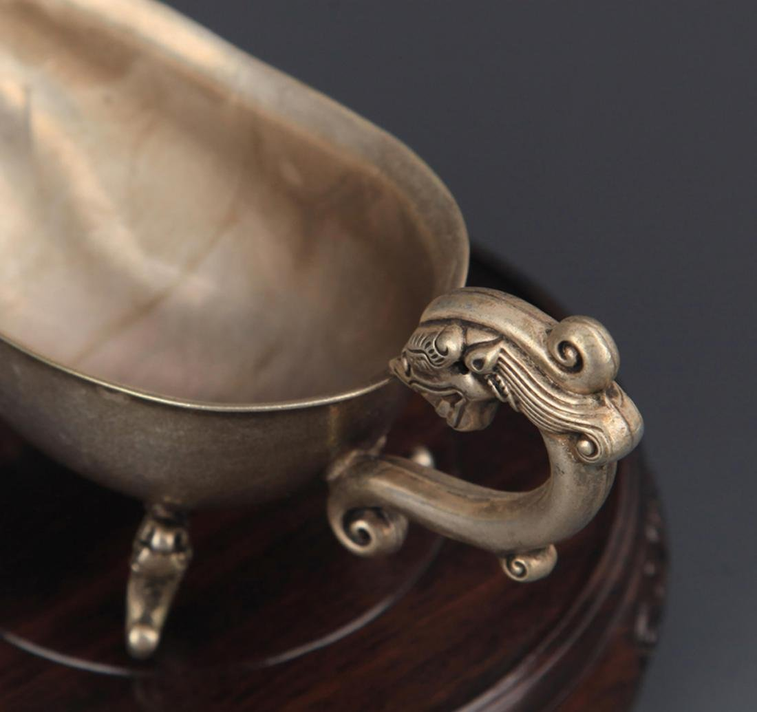 PAIR OF DRAGON HANDLE CUP - 3