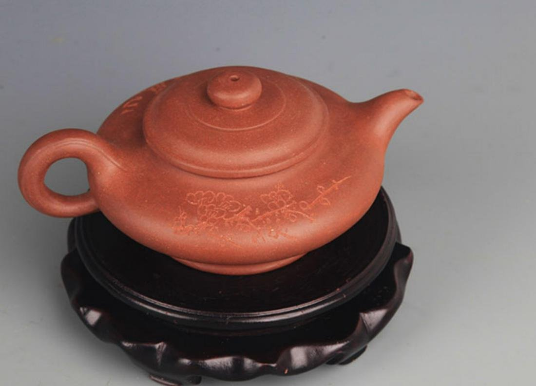A FINELY MADE YI XING ZI SHA TEA POT - 2