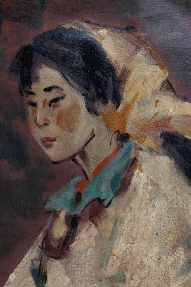 A FINE OIL PAINTING, ATTRIBUTED TO SONG JI CAI - 2