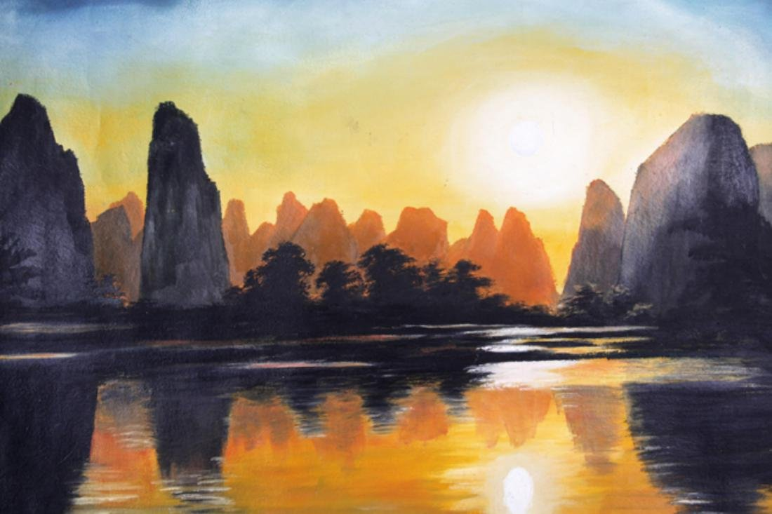 A FINE OIL PAINTING, ATTRIBUTED TO CHEN XIAO SHENG - 2