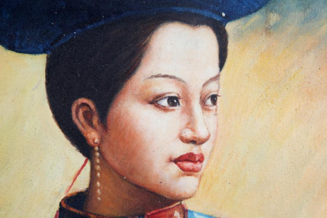 A FINE OIL PAINTING, ATTRIBUTED TO ZHOU KAI - 3