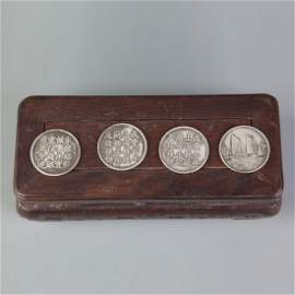 GROUP OF 4 OLD CHINESE COIN