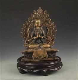 TIBETAN BUDDHISM SHADAKSHARI LOKESHVARA STATUE
