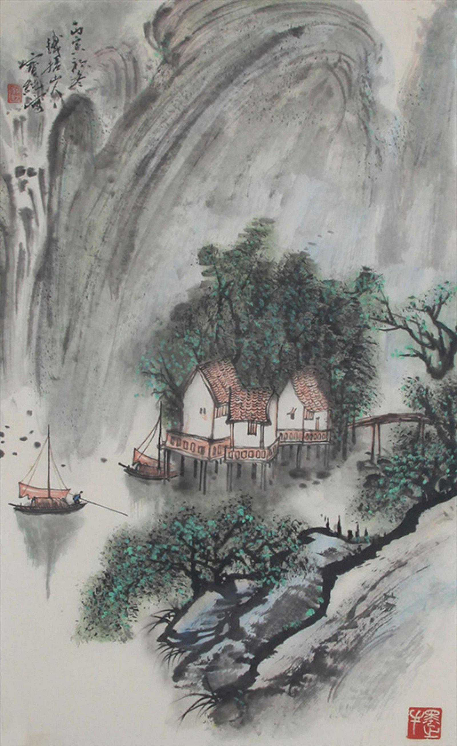 CHINESE PAINTING, ATTRIBUTED TO LIU BAO CHUN