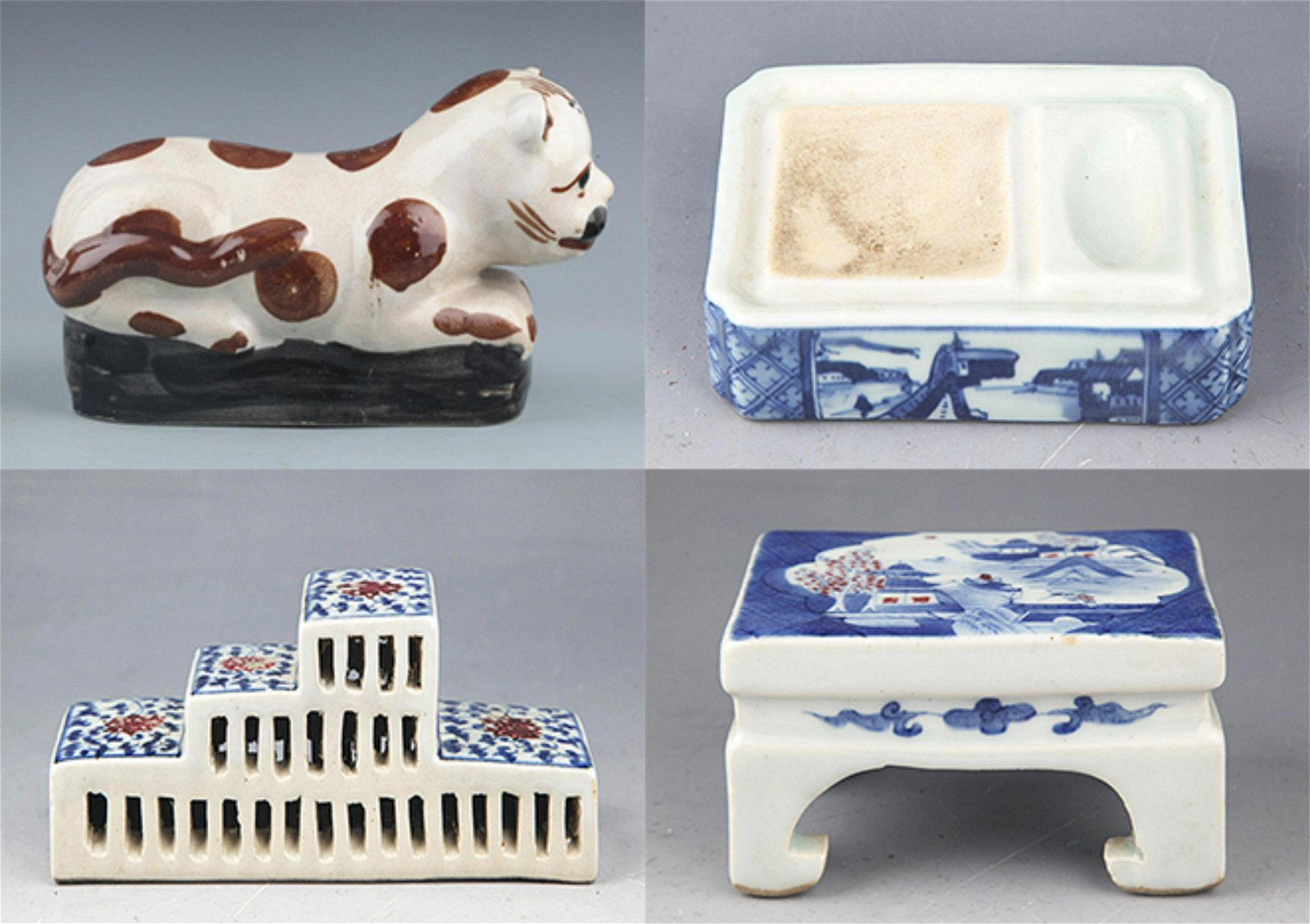 GROUP OF THREE FINELY MADE PORCELAIN