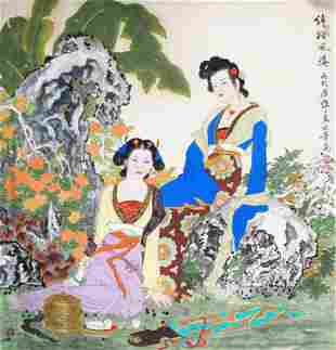 XIANG WEI REN CHINESE PAINTING ATTRIBUTED TO