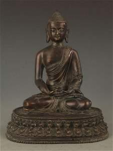 FINE BRONZE TIBETAN BHAISAJYAGURU A BUDDHA