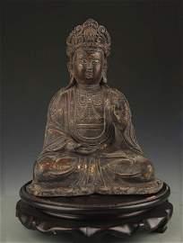 TIBETAN BUDDHISM BRONZE KṢITIGARBHA BODHISATTVA