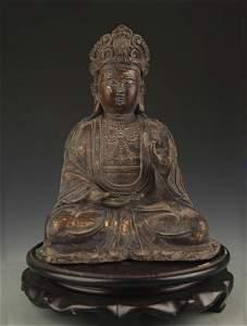 TIBETAN BUDDHISM BRONZE Ká¹¢ITIGARBHA BODHISATTVA