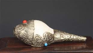 A Fine Tibetan Buddhism Religious Conch