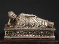 A TIBETAN BUDDHISM BRONZE SLEEPING BUDDHA