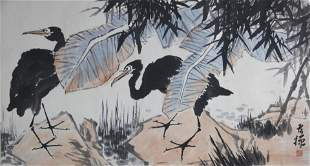 A CHINESE PAINTING ATTRIBUTED TO WANG XUETAO