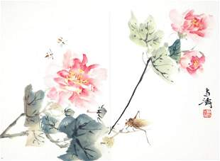A FINE OIL PAINTING ATTRIBUTED TO WANG XUE TAO
