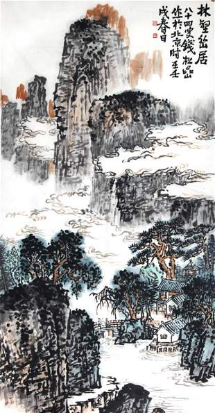 A FINE CHINESE PAINTING ATTRIBUTED TO QIAN SONG YAN