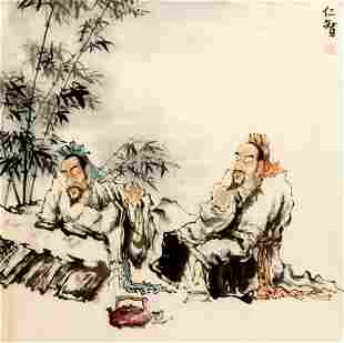 REN ZHI CHINESE PAINTING ATTRIBUTED TO