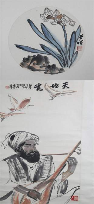 GROUP OF TWO CHINESE PAINTING ATTRIBUTED TO YA