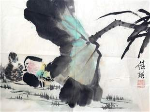A FINE CHINESE PAINTING ATTRIBUTED TO LIU JI YING