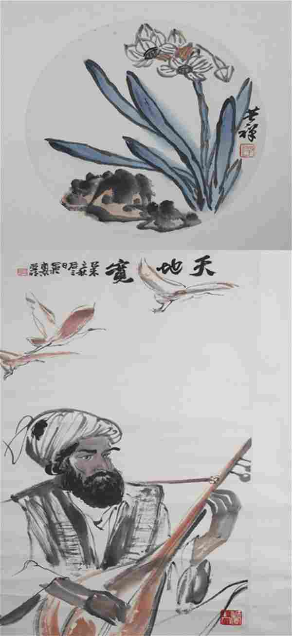 GROUP OF TWO CHINESE PAINTING (ATTRIBUTED TO ), YA