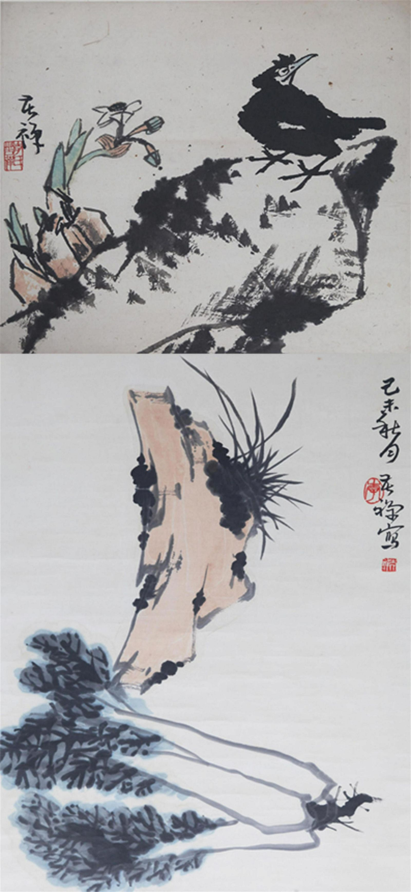 GROUP OF TWO CHINESE PAINTING (ATTRIBUTED TO ), LI KU