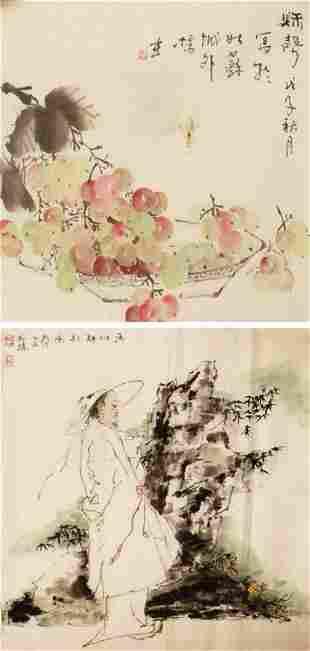 CHINESE PAINTING ATTRIBUTED TO YANG XUAN HAN GUO ZHEN