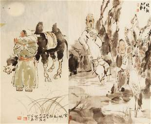 CHINESE PAINTING ATTRIBUTED TO ZHANG DE FA AND CHEN YU
