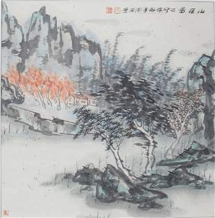 DHI DE DONG CHINESE PAINTING ATTRIBUTED TO
