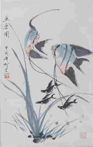 LAO CHINESE PAINTING ATTRIBUTED TO