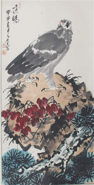 JIAO KE QUN CHINESE PAINTING ATTRIBUTED TO