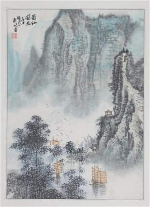 SUN BO ZHI CHINESE PAINTING ATTRIBUTED TO